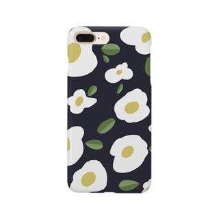 おはなのスマホケース【indigo blue】 Smartphone cases