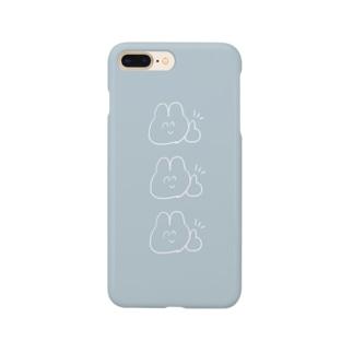ちょべりぐうさぎのスマホケース【Blue】 Smartphone cases