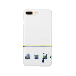 夜のドラッグストア Smartphone cases