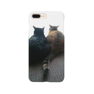 後ろ姿(ねこ) Smartphone cases