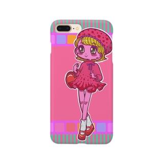レトロガールのスマホケース Smartphone cases