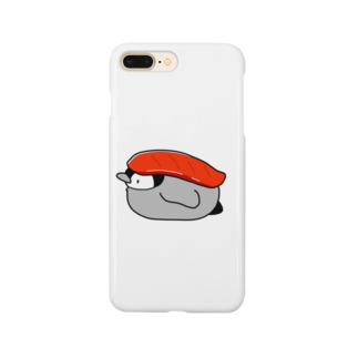 ちょこぺんのお寿司なペンギン(まぐろ) Smartphone cases