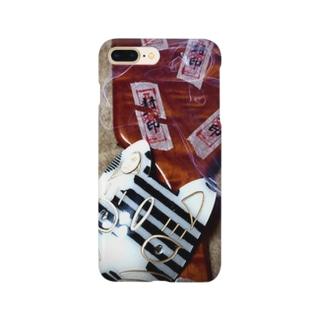 呪いの櫛と狐面 Smartphone cases