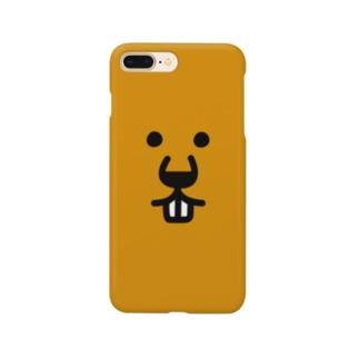 ふきだしびーばー【FACE】 Smartphone cases