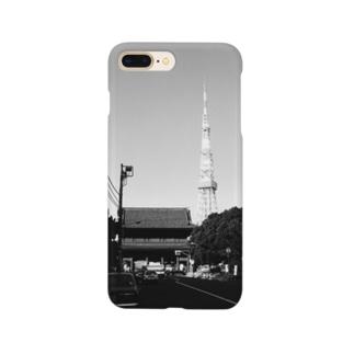 東京都:西日が当たる増上寺山門と東京タワー Tokyo: Temple gate of Zojoji & Tokyo Tower Smartphone Case