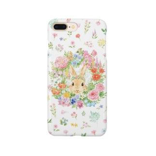 うさぎのリース Smartphone cases