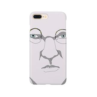 白人の中年紳士 Smartphone cases