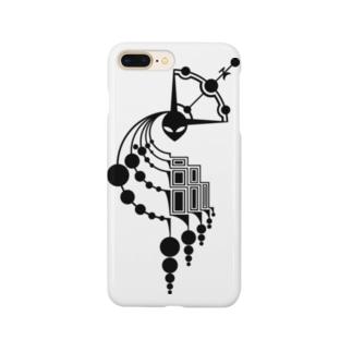 ミステリーサークル09(ブラックver) Smartphone cases