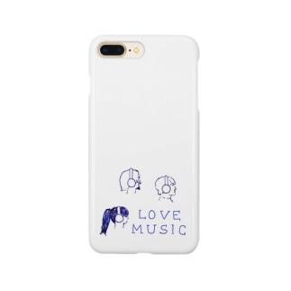 ヘッドホン男子&女子 Smartphone cases
