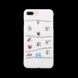 ぶらほわ店のヨダレ猫(カラフル猫ちゃんズ)スマートフォンケース