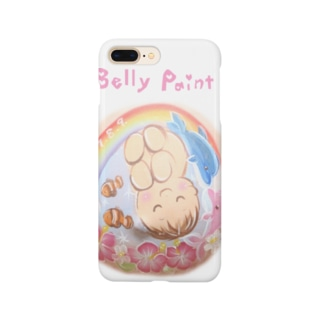 赤ちゃんとイルカと虹 スマートフォンケース