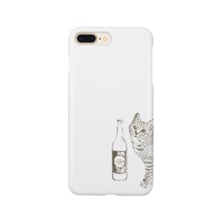 キジトラ猫とどぶろく(ブラウン) Smartphone Case