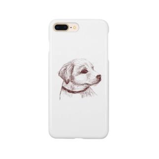 百合の筆の子犬 Smartphone cases
