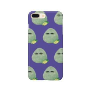 こんぶおにぎり羅列紫 Smartphone cases