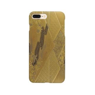金地山菱蒔絵手箱 Smartphone cases