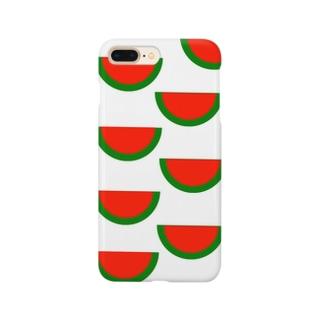 種なしスイカいっぱい Smartphone cases