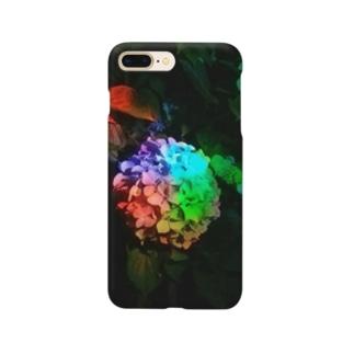 「レインボー紫陽花」 Smartphone cases