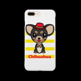 オリジナルデザインTシャツ SMOKIN'のちんちんチワワ Smartphone cases