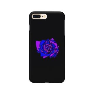 パープルブルー薔薇💜💙🌹 Smartphone cases