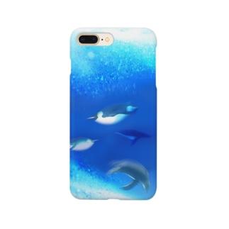 泳ぐペンギンのスマホケース Smartphone cases