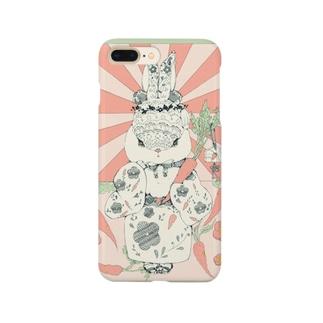 【和風大好き!】和風レトロうさぎ Smartphone cases