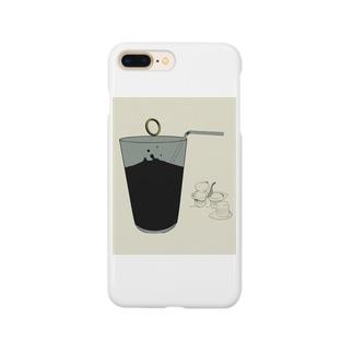 指輪とアイスコーヒー(イラスト) Smartphone cases