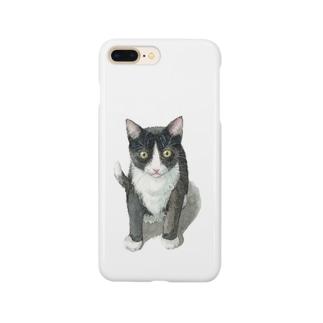 ハチワレ子猫 スマートフォンケース
