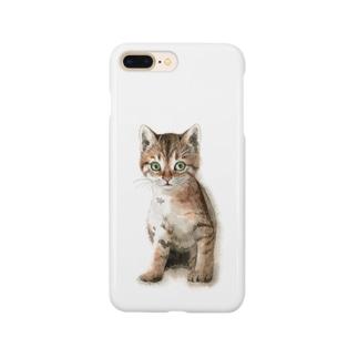 キジトラ子猫 スマートフォンケース