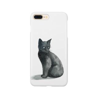 まっくろ子猫 スマートフォンケース