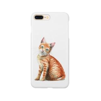 茶トラ子猫 Smartphone cases