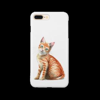 山田理矢の茶トラ子猫 Smartphone cases