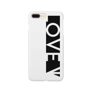 LOVE←白抜き Smartphone cases