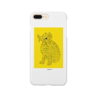 風になびく犬 Smartphone cases