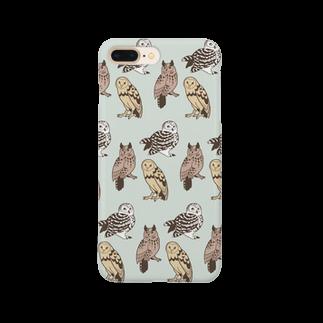 ななめやの三羽フクロウ Smartphone cases