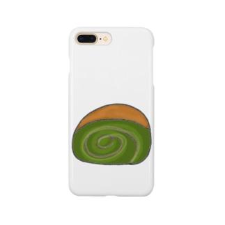 甘党のための抹茶ロールケーキ Smartphone Case