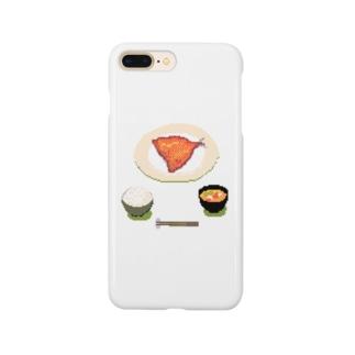 アジフライ定食(透過) Smartphone cases