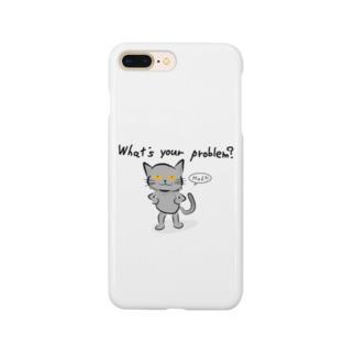 威張りネコ Smartphone cases