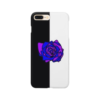 薔薇🌹パープルブルー💜💙 Smartphone cases