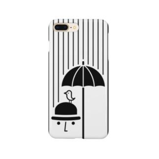 鳥と男性 Smartphone cases