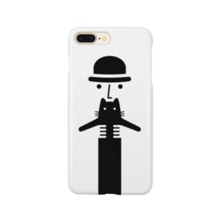 猫と男性 Smartphone cases