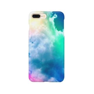 カラフルな雲 Smartphone cases
