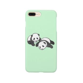双子パンダ(グリーン) Smartphone Case