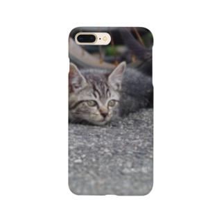 起きた野良ニャンコ Smartphone Case