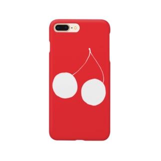 赤の中のホワイトチェリー Smartphone Case