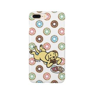 ドーナツをつまむイエローラブラドール Smartphone Case