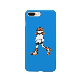 色付きハッピーラッキーガール Smartphone cases