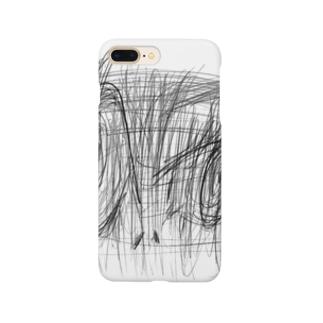 睨むひと Smartphone cases