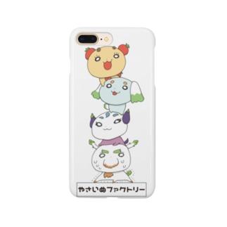やさいぬタワー(カラー) Smartphone cases