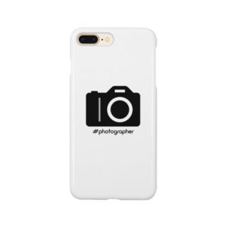 photographer(黒文字) Smartphone cases