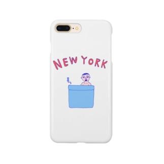 ダジャレデザイン「にゅーよーく」<NEWYORK>*このデザインがドラマあのキスの衣装に使われていた模様、松坂桃李さんがきてるのみたよお Smartphone cases